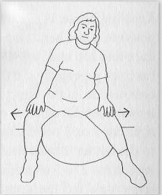 dibujo mujer entada en un ballfit